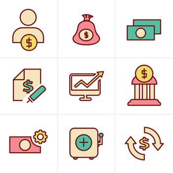 Icons Style Icons Style  Finance icon set,vector