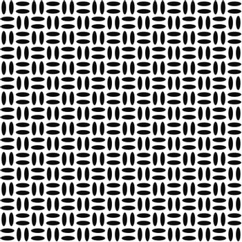 Simple monochrome abstract ellipse repeat pattern background