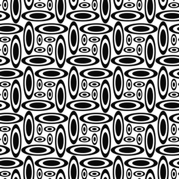 Monochrome concentric ellipse repeat pattern design background