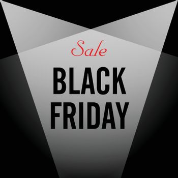 Vector. Black Friday sales. Black poster. Black banner.