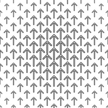 Black and white arrow repeat pattern design