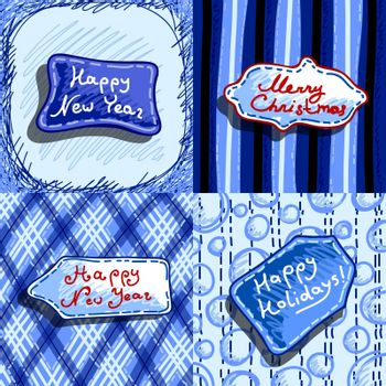 set of banners with congratulatory messages on different backgrounds