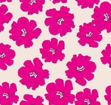 vector illustration of a floral seamless background