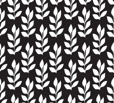 vector illustration of a floral leaves seamless background