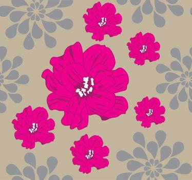 vector illustration of a floral pattern background