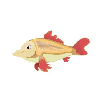 Goldfish positive and fun from the movie. Vector Image.