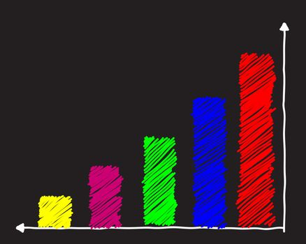 colorful drawing  graph  vector