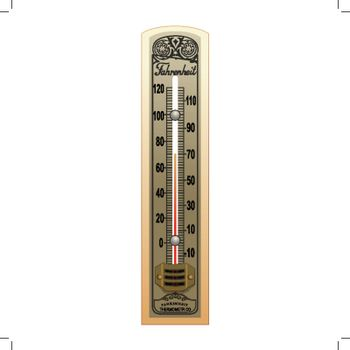 Old thermometer vector illustration on a white background