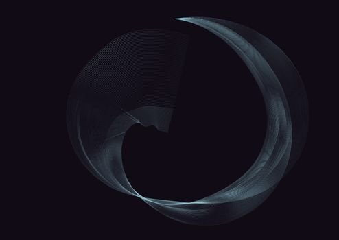 Abstract color wave design element. Blue wave.