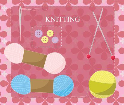 Knitting equipment icon