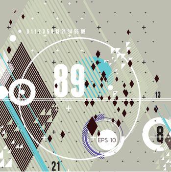 modern futuristic composition of simple geometric shapes