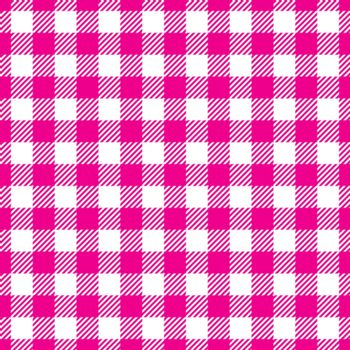 Seamless Pink White Traditional Gingham Pattern Fabric Texture