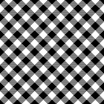 Seamless Black White Traditional Gingham Pattern Fabric Texture for Design