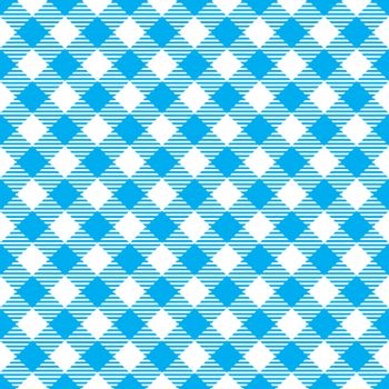 Seamless Blue White Traditional Gingham Pattern Fabric Texture for Design