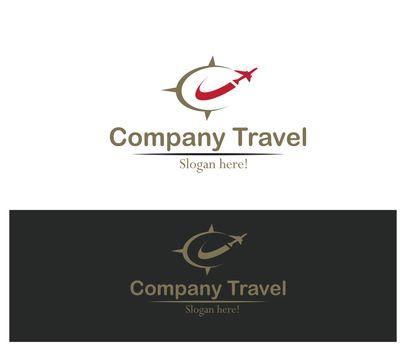 Elegant Travel Company Logo concept.
