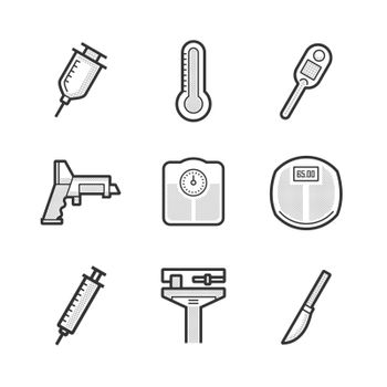 Set Of Medical Device Icon