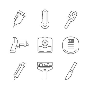 Line Icons Set Of Medical Device Icon