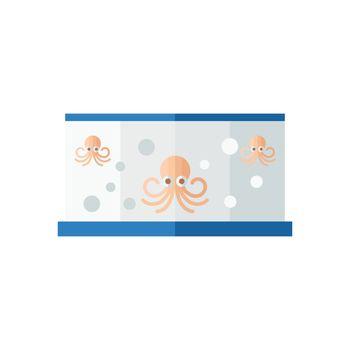 Orange Squid in fish tank