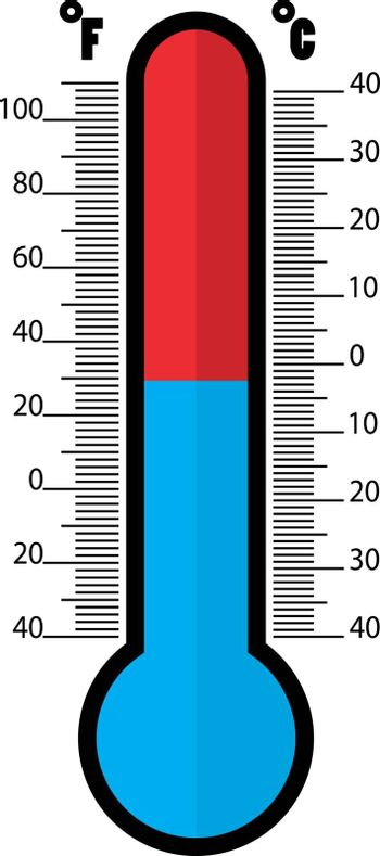 Thermometer icon , Flat design style, vector illustration