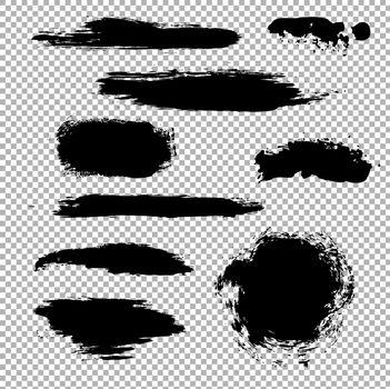 Black Stain, Vector Illustration