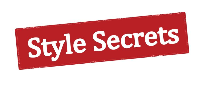 Stamp with text style secrets inside, vector illustration