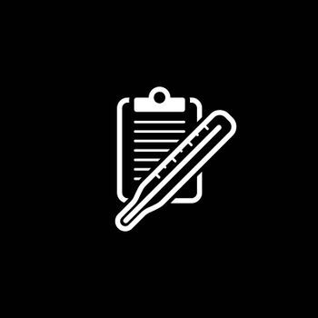 Thermometer and Medical Services Icon. Flat Design. Isolated