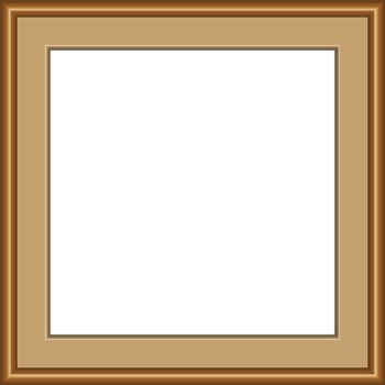 beautiful modern style of square wooden frame. 3D realistic