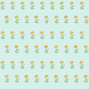 Seamless pattern with cute colorful pink flowers, floral texture