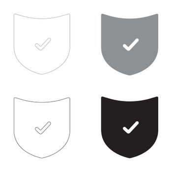 Shield   it is the black and grey color set icon .