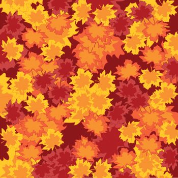 Bright colorful background from autumn foliage.Vector illustration
