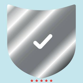 Shield it is color icon . Simple style .