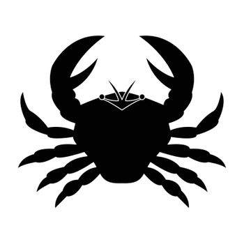 Simple flat black cancer icon vector