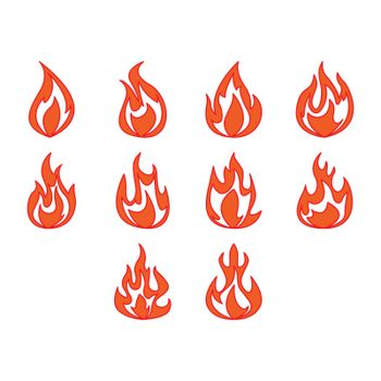 Collection of fire icon vector