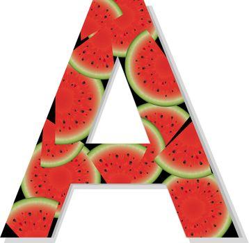 Letter A, Vector Illustration