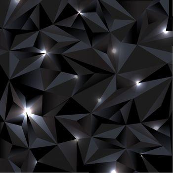 Black Background Gradient Mesh, Vector Illustration