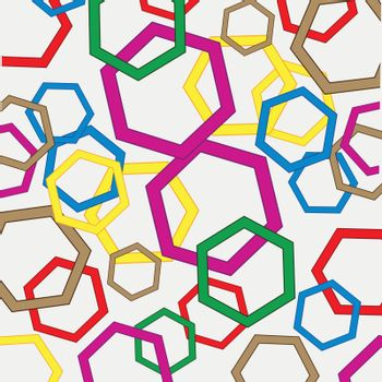 Colour figures polygonal figure on white background is insulated