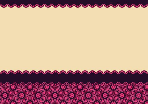 background with small floral elements and place for text
