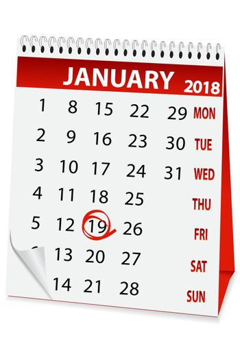 icon in the form of a calendar for Epiphany 2018