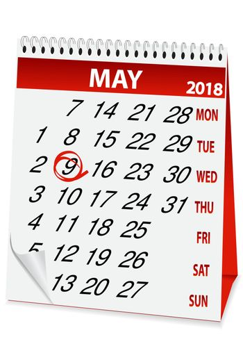 icon in the form of a calendar for Victory Day 2018