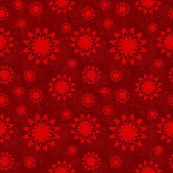 Vector pattern for fabric. Floral red background. Seamless pattern of red flowers.