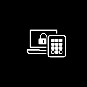 Secure Access Icon. Flat Design. Business Concept Isolated Illustration.