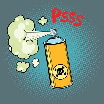 toxic gas chemical waste. Comic cartoons pop art retro vector illustration kitsch drawing
