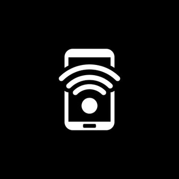 Wi-Fi Hotspot Icon. Flat Design. Mobile Devices and Services Concept. Isolated Illustration.