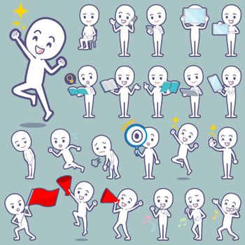 Set of various poses of Stick figure 2