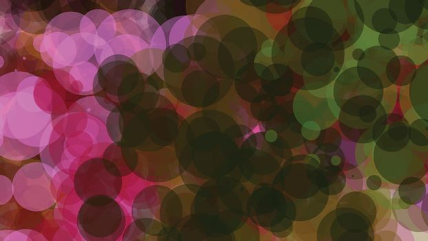 Pink, brown, and green bubbles, grunge background vector. Ink splatter, blots, spot elements. Watercolor paint splashes pattern, fluid stains spots background.