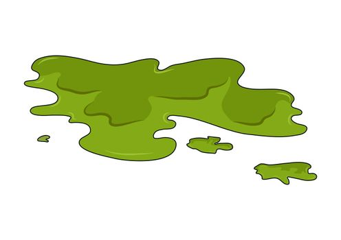Toxic puddle simple vector design isolated on white