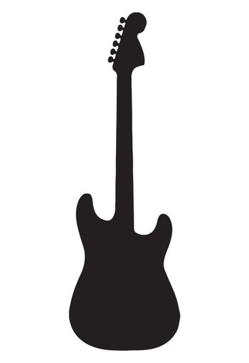 Guitar icon vector, Acoustic musical instrument sign Isolated on white background. Trendy Flat style for graphic design, logo, Web site, social media, UI, mobile app, EPS10