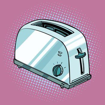 toaster, kitchen equipment. Pop art retro vector illustration vintage kitsch
