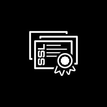 SSL Certificates Icon. Flat Design Isolated Illustration.