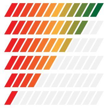 Progress or loading bar, indicator element. Vector.